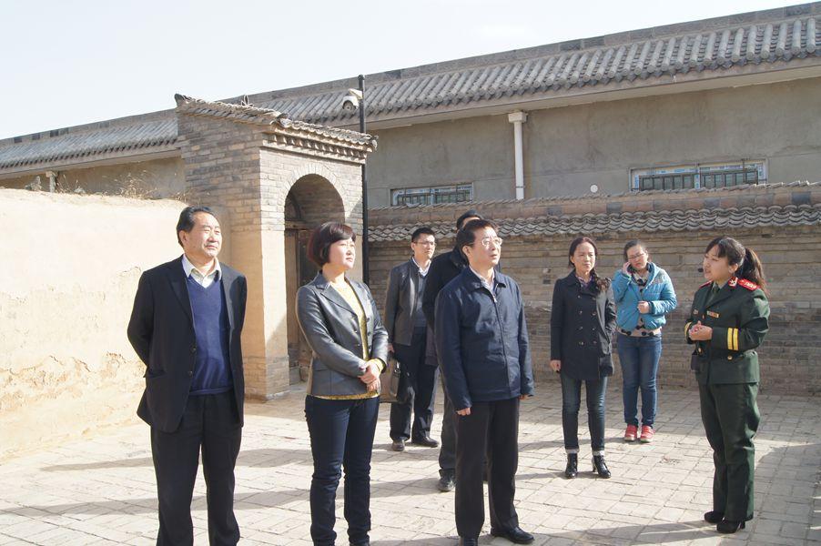 2014年3月19日下午,国务院参事室主任方宁来馆参观,我县副县长刘晓霞